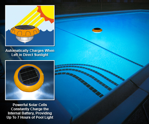 Star Shineï ½ The Amazing Floating Solar Ed Light Automatically Recharges Itself From Sunlight No More Dark Pool Because You Forgot To Recharge