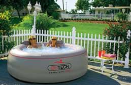 Inflatable spas portable spas mi spa dealer for Salon biotech
